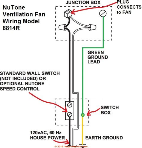 basic electrical wiring diagrams for nutone bathroom fan