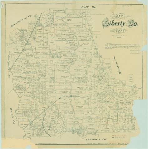 liberty county texas map map of liberty county texas sequence 1 the portal to texas history