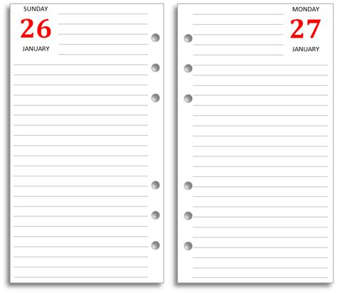 page template 6 best images of printable diary page template diary