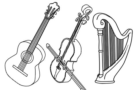 imagenes de instrumentos musicales faciles de dibujar imagenes de instrumentos de cuerda para pintar imagui