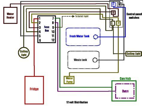 volt wiring diagram  volt camper repair