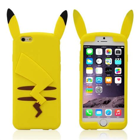 Pikachu Softcase For Iphone 66s66s 3d soft rubber silicone pikachu back cover for iphone 4 4s 5 5s 6 plus 6plus