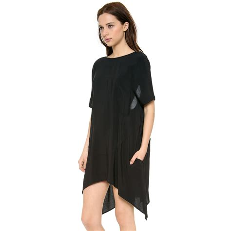 Fashion Dress A30801 Size M 2015 irregular mini black plus size casual dresses fashion clothes chiffon xs s m l xl