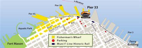 san francisco map pier 33 plan your visit alcatraz island u s national park service