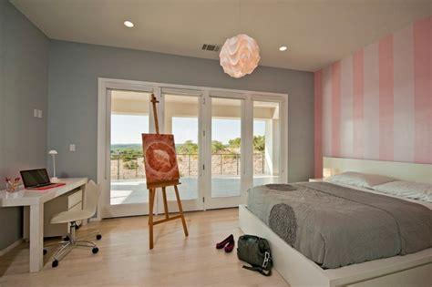 deco chambre adulte gris et rose poudre