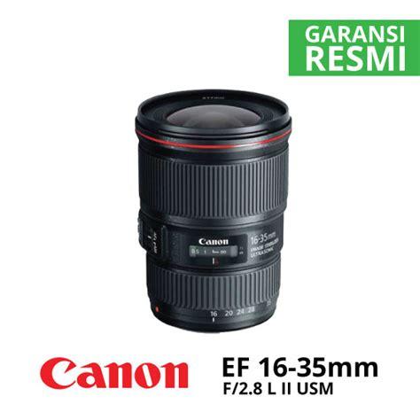 Lensa Canon 16 35mm F2 8 L Ii Usm jual canon ef 16 35mm f 2 8l ii usm harga dan spesifikasi