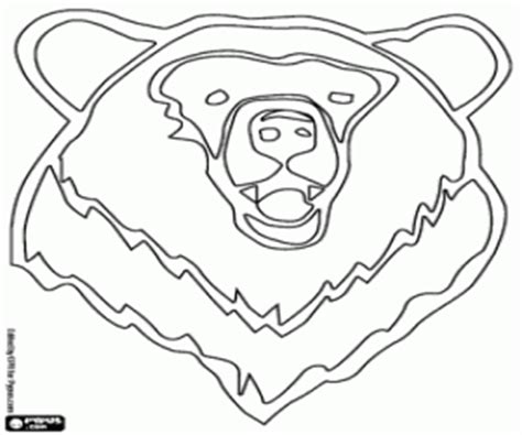 coloring page of a bear head bears coloring pages printable games
