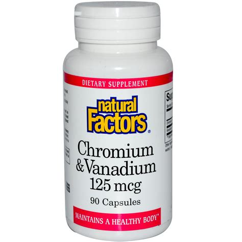 Chromium Vanadium | natural factors chromium vanadium 125 mcg 90 capsules
