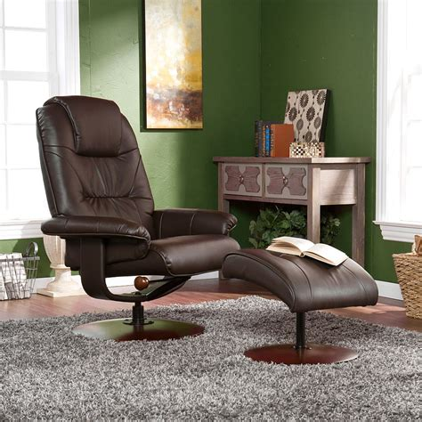 euro style recliner euro style recliner and ottoman in brown leather
