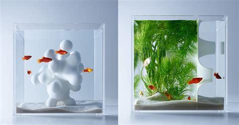 3d aquarium design program minimalist aquariums filled with 3d printed flora by