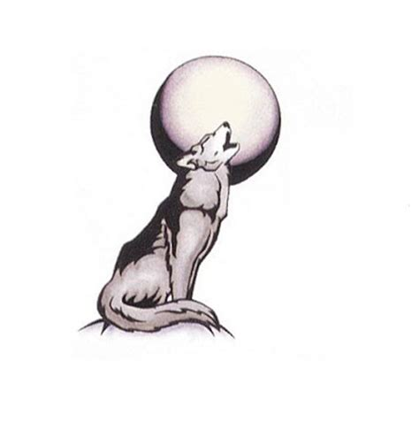 wolf howling at the moon tattoo designs designs howling moon design