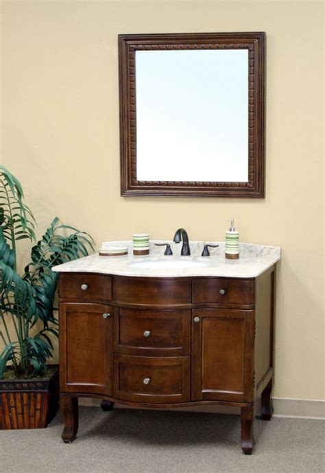 38 Inch Bathroom Vanity 38 Inch Single Sink Bathroom Vanity In Medium Walnut Uvbh20304538
