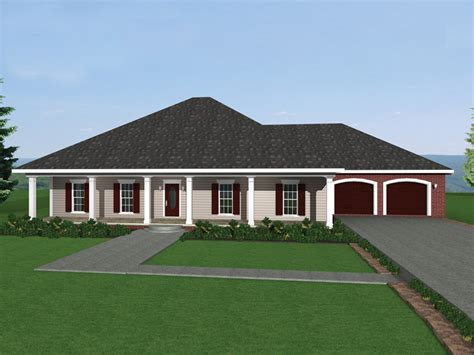 rock forest southern ranch home plan 028d 0046 house