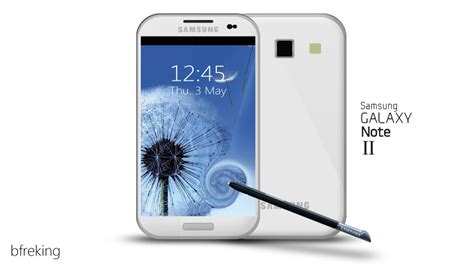 new samsung galaxy note ii concept phone emerges