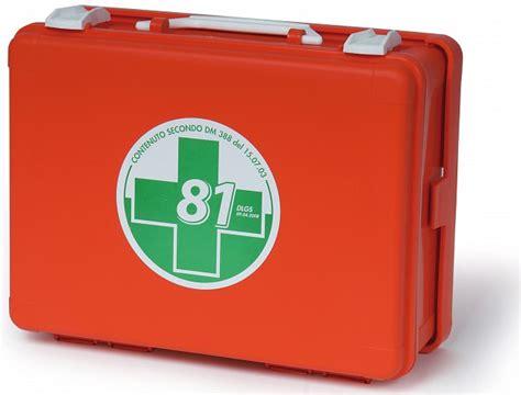 cassette di pronto soccorso valigietta vuota arancio di primo soccorso per aziende con