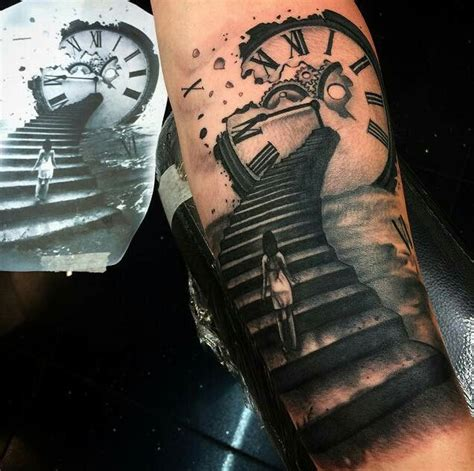 staircase tattoo 1000 ideas about skull sleeve on skull sleeve