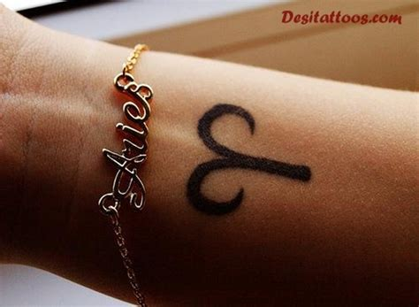33 awesome aries wrist tattoos design