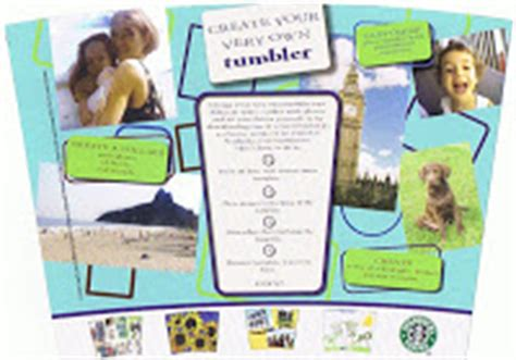 starbucks collage tumbler template shiloh sts custom coffee mug for a college care package