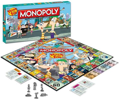 Monopoli Cars Mainan Board phineas and ferb monopoly disney wiki