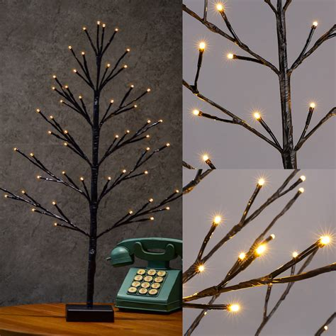 lighted trees home decor 60cm bonsai plane tree light branch led christmas lights