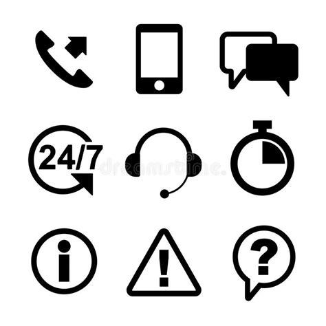 eps outline format customer service icon set black outline stock vector