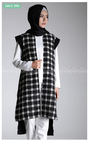 Baju Muslim Vest baju muslim terbaru dan terkini foto padu padan busana muslim modern dengan vest