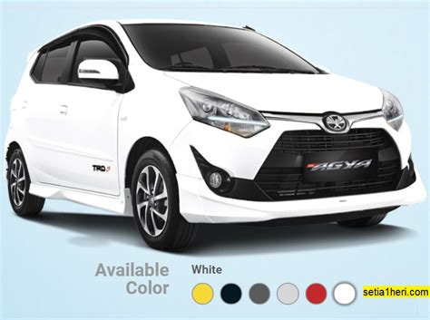 All New Toyota Agya 6 pilihan warna all new toyota agya tahun 2017