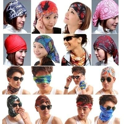 Buff Headware Bandana Masker 309 Qoo10 Buff Headwear Neck Bandana Multi Function Scarf