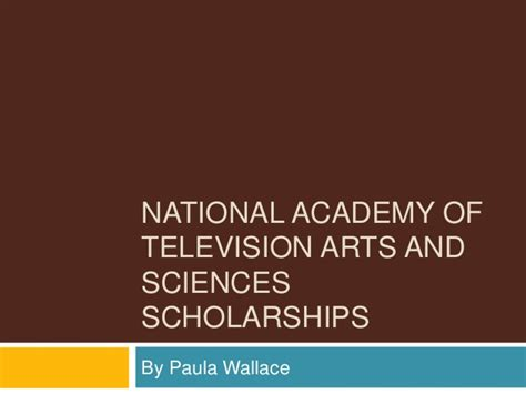 courtesy of the academy of television arts sciences national academy of television arts and sciences scholarships