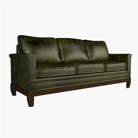 Stickley Sofa by Max Leather Modern Stickley Sofa