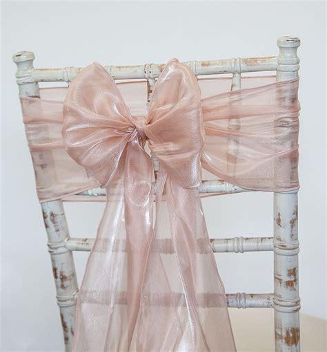 blush pink chair sashes buy silk organza sash blush pink from chair cover depot