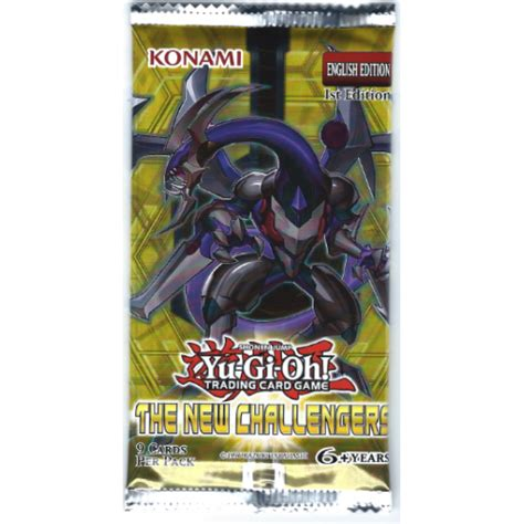 Yugioh Card Pack 9 Card yugioh the new challengers 1st edition booster pack 9