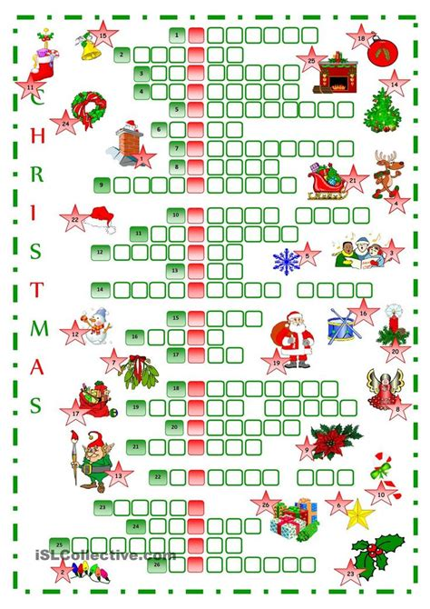 printable christmas english worksheets best 25 christmas crossword ideas on pinterest