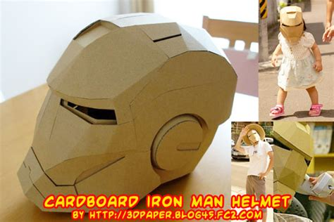 How To Make A Paper Iron Suit - ninjatoes papercraft weblog cardboard iron helmet