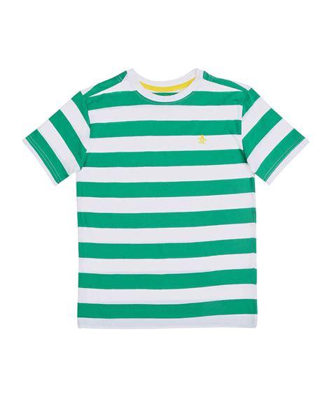 Tshirt C Along Item Murah original penguin green white striped cotton t shirt