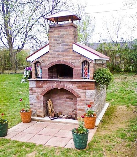 brick oven backyard outdoor brick oven