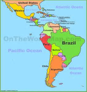world map and south america map of central and south america