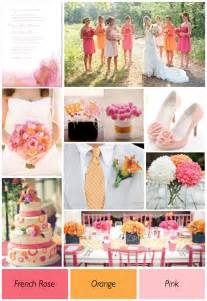 wedding by color pink and orange wedding ideas weddings by lilly