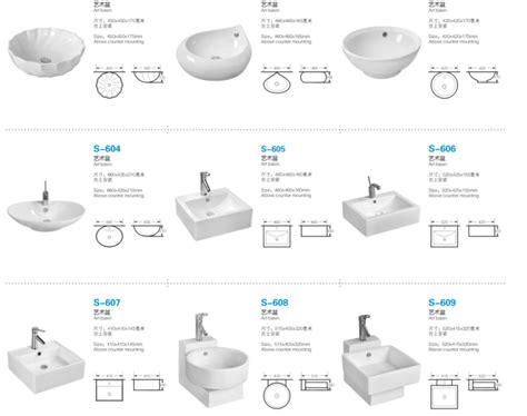 Faucet Supplier Modern Square Small Size Ceramic Wall Hung Basin For