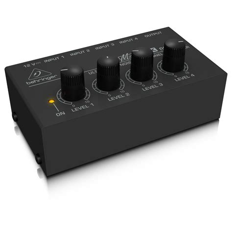 behringer mx400 micromix 4 channel mixer at gear4music