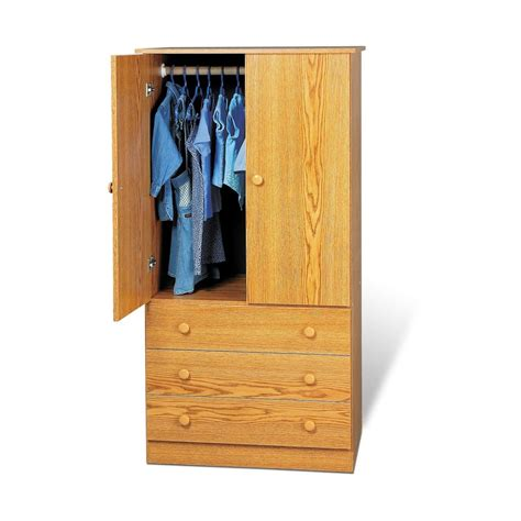 Prepac Armoire by Shop Prepac Furniture Edenvale Oak Armoire At Lowes