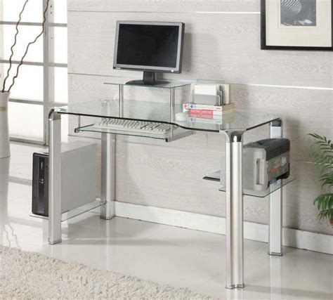 modern black computer desk glass modern computer desk for innovative and futuristic