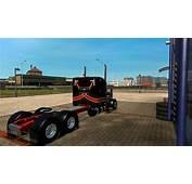 PETERBILT 379 BLACK &amp RED SKIN 122 Mod  Euro Truck