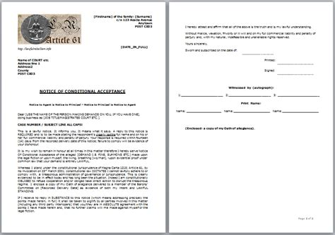 Conditional Acceptance Letter Meaning documents posters lawful rebellion