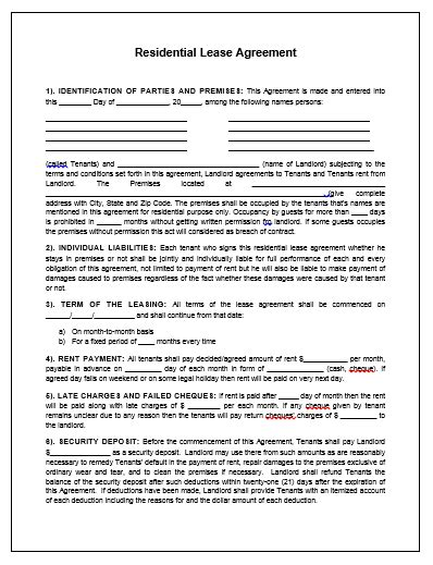 Sales Agreement Templates Pdfs Documents And Pdfs Property Lease Contract Template