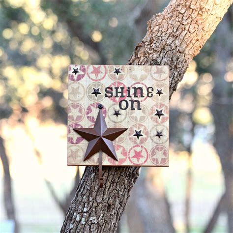 wall quotes tutorial diy wall decor tutorial with quot shine on quot quote