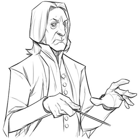 harry potter coloring pages snape p cohen sketch severus snape sketch
