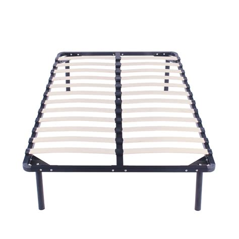 Twin Size Wood Slats Metal Bed Frame Platform Bedroom Metal Slat Bed Frame