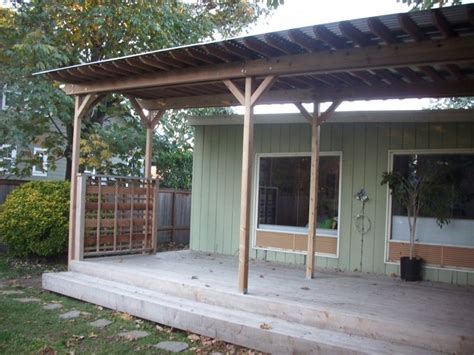 Pergola With Tin Roof Metal Roofing Pergola Corrugated Metal Roof Pergola