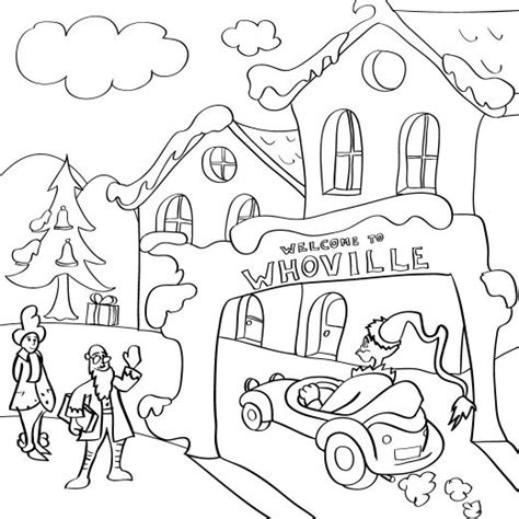 grinch tree coloring page whoville coloring pages ecolors coloring home